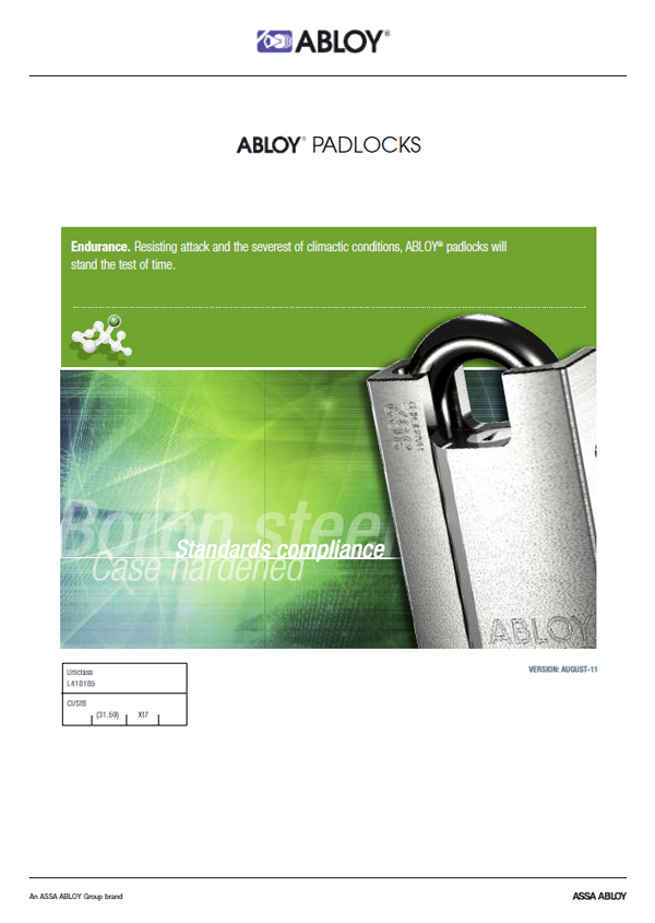 Abloy Padlocks Brochure