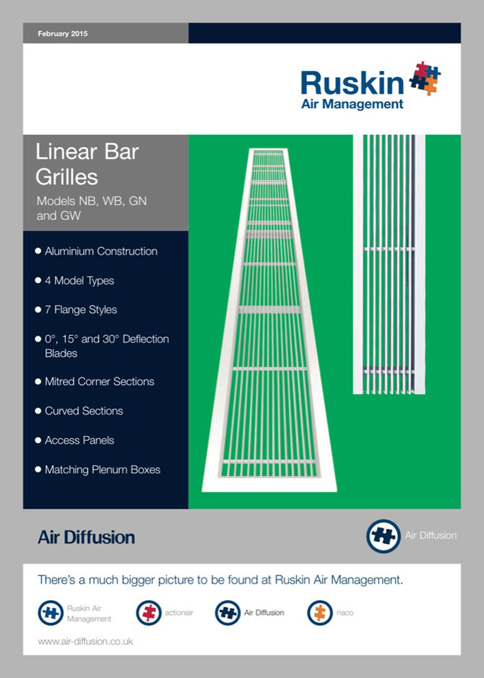 Air Diffusion Linear Blade Bar Grille Brochure