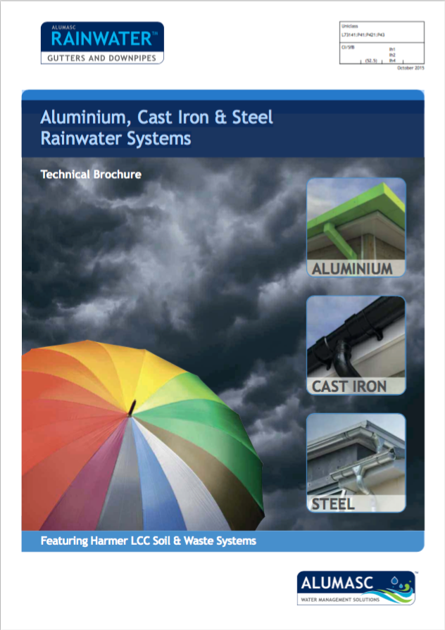 Aluminium, Cast Iron & Steel Rainwater Systems Brochure