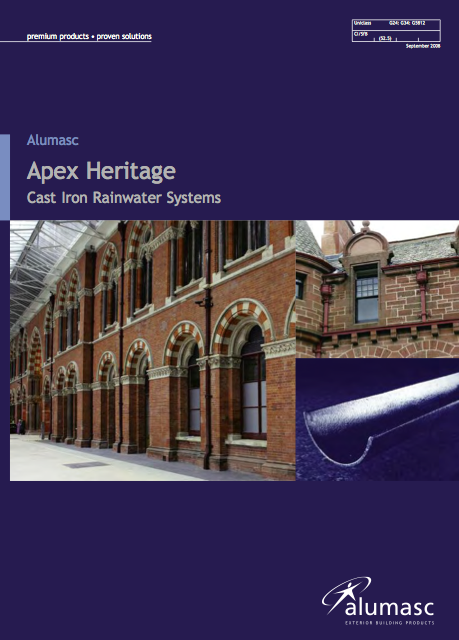 Apex Heritage Cast Iron Systems Brochure
