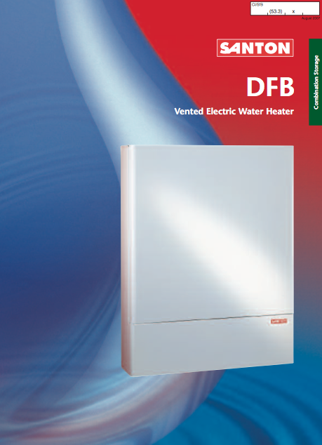 Santon DFB Vented Electric Water Heater Brochure