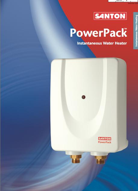 PowerPack Instantaneous Water Heater Brochure