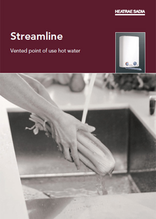 Streamline vented point of use hot water Brochure