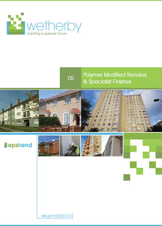 Polymer Modified Renders & Specialist Finishes Brochure