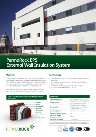PermaRock EPS External Wall Insulation System Brochure