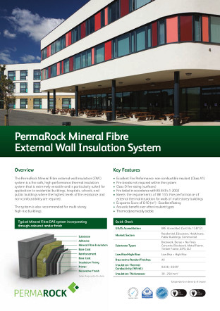 PermaRock Mineral Fibre External Wall Insulation System Brochure