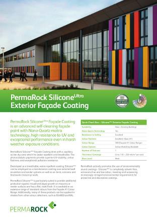PermaRock SiliconeUltra Exterior Façade Coating Brochure