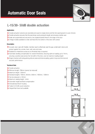 Automatic Door Seals Brochure