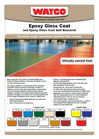 Epoxy Gloss Coat Brochure