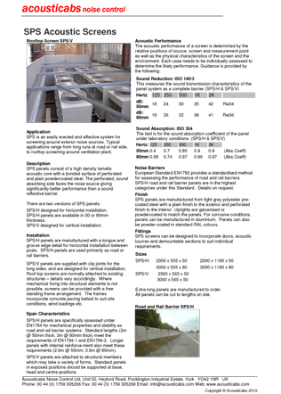 SPS Acoustic Screens Brochure
