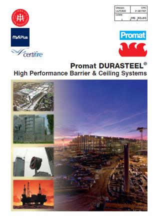 Promat DURASTEEL - High Performance Barrier & Ceiling Systems Brochure