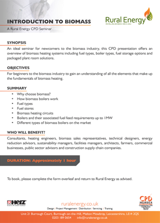 INTRODUCTION TO BIOMASS Brochure