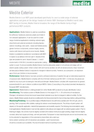 Medite Exterior Datasheet Brochure