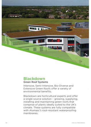 Blackdown Green Roof Systems Brochure