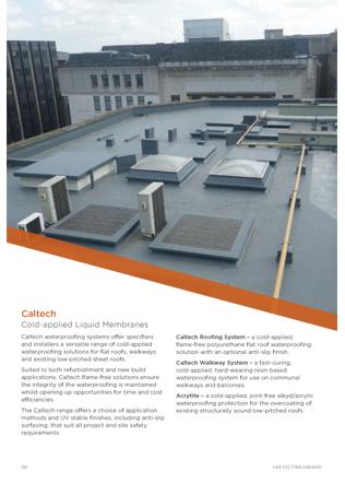 Caltech Cold-applied Liquid Membranes Brochure