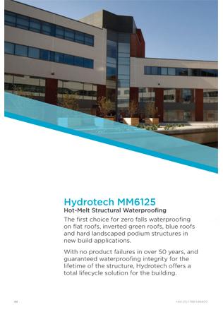 Hydrotech MM6125 Hot-Melt Structural Waterproofing Brochure