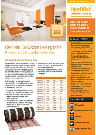 160W sqm Heating Mat Brochure