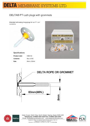DELTA® PT-Lath plugs with grommets Brochure