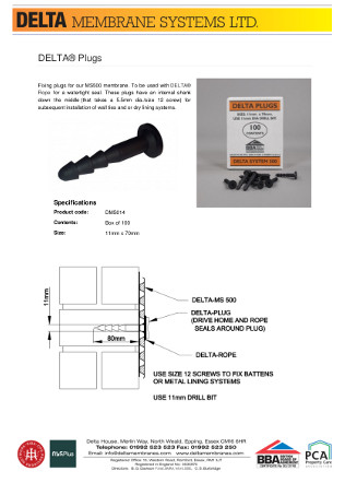 DELTA® Plugs Brochure