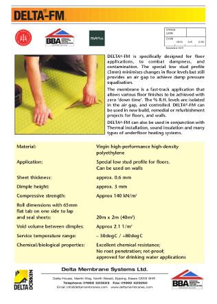 DELTA® FM — 3mm cavity Brochure
