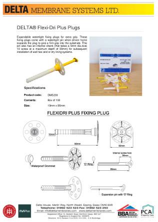 DELTA® FlexiDri Plugs Brochure