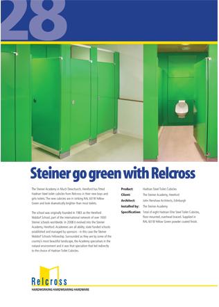Steiner go green with Relcross Brochure