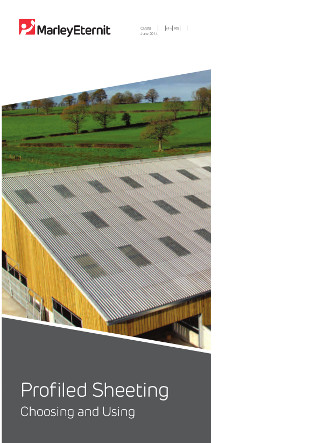 Choosing and Using Profiled Sheeting Brochure