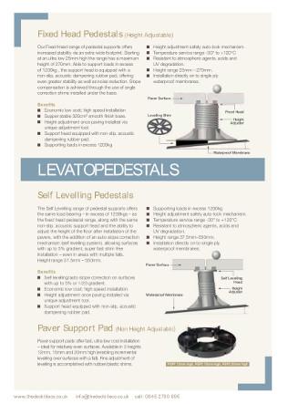 LEVATO Pedestals Brochure