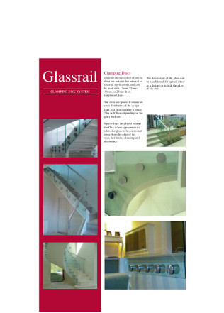 Glassrail clamping disc system Brochure