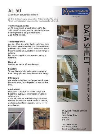 Aluminium balustrade system Brochure