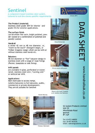 Sentinel data sheet Brochure