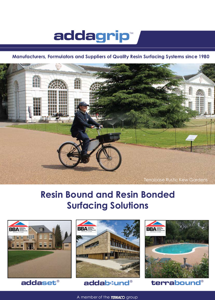 Resin Bound and Resin Bonded Surfacing Solutions Brochure