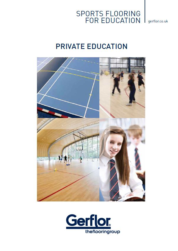 Private Education - Sports Flooring For Education Brochure