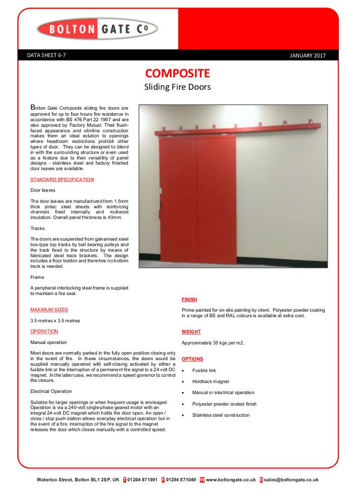 Composite Sliding Fire Doors Brochure
