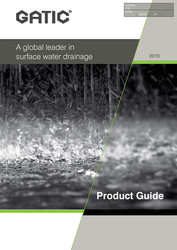Gatic Product Guide for Surface Water Drainage Brochure