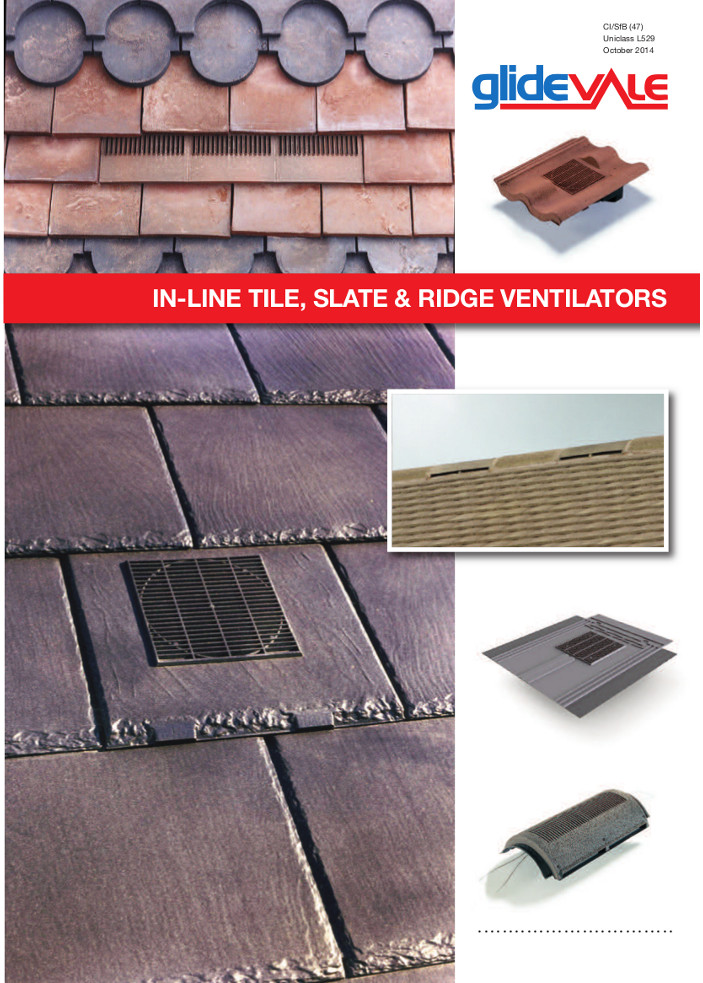 In-Line® Tile, Slate & Ridge Ventilators – Roofspace ventilation  Brochure