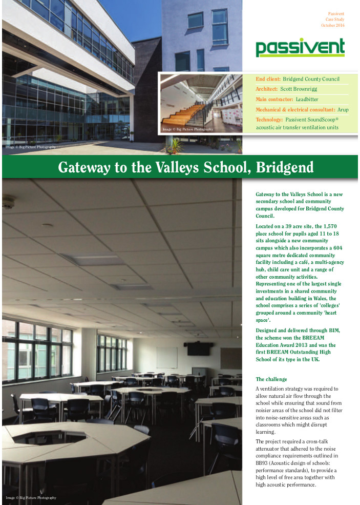 Gateway to the Valleys School, Bridgend Brochure