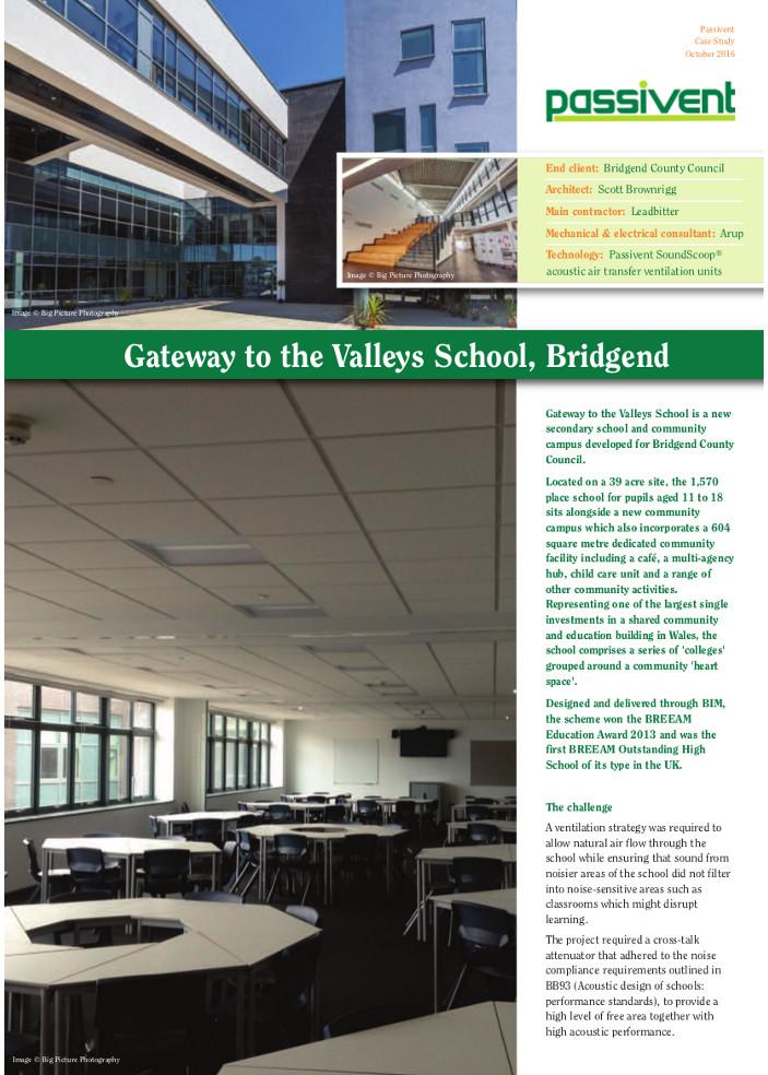 Gateway to the Valleys School, Bridgend Brochure