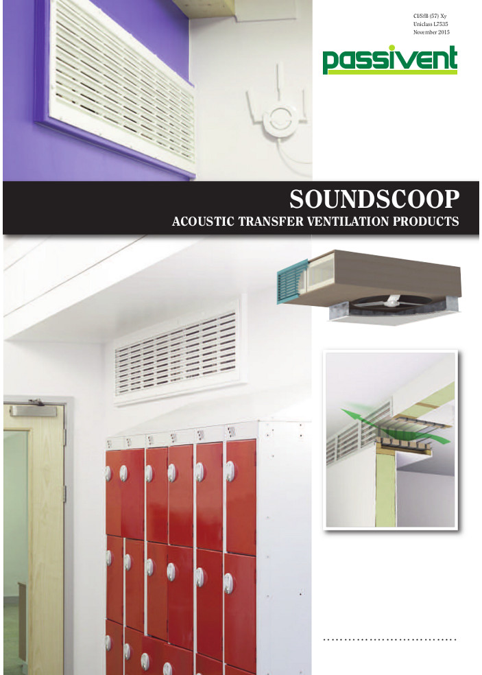 Soundscoop Acoustic Transfer Ventilation Products    Brochure
