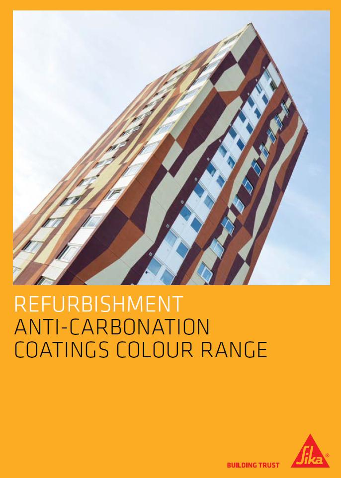 Refurbishment anti-carbonation coatings colour range Brochure