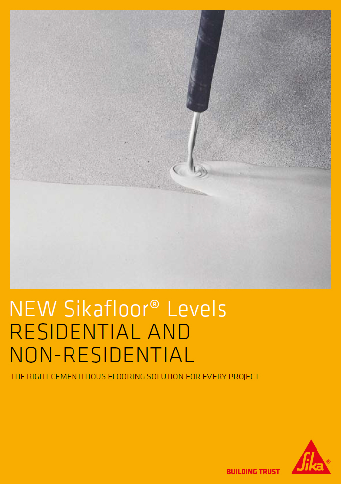 New SikaFloor® levels residential and non-residential Brochure