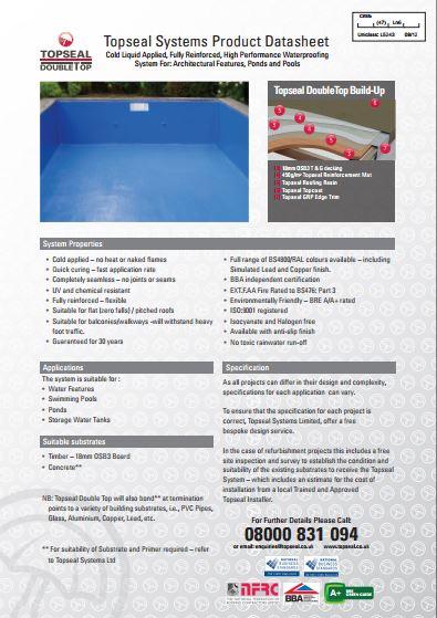 Topseal DoubleTop Brochure