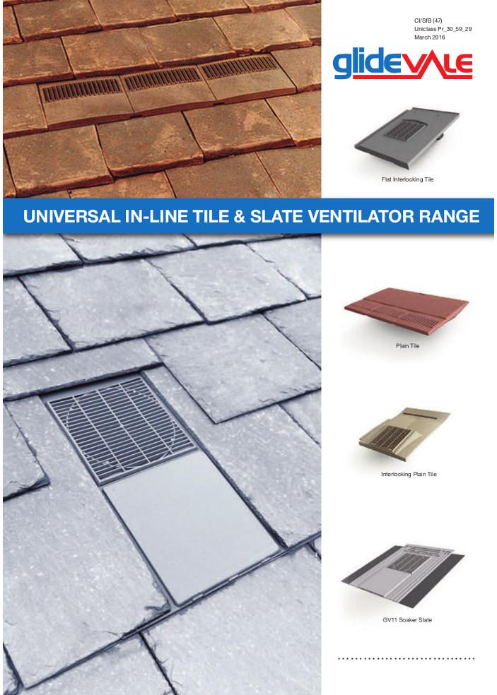 Universal In-Line® & Slate Ventilator Range – Roofspace ventilation  Brochure