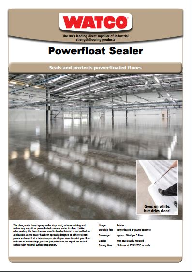 Powerfloat Sealer  Brochure