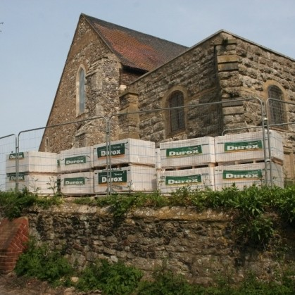 Tarmac gives 21st century boost to 12th century church