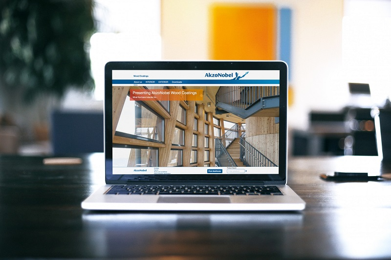 AkzoNobel Industrial Coatings press button on new website