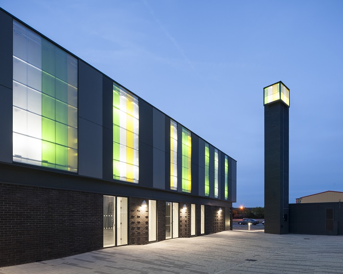 Rodeca cladding helps bring theatre to Redbridge College