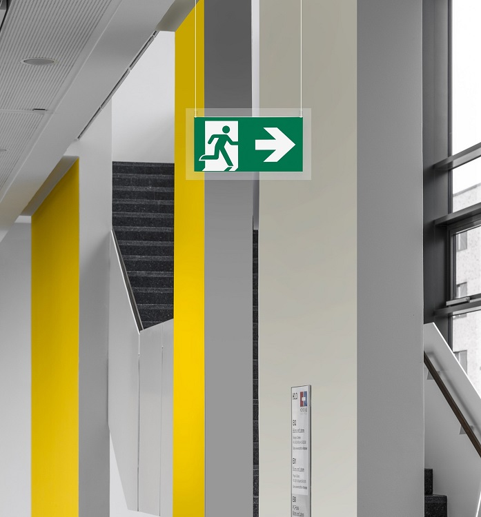 Eaton's CrystalWay exit luminaires lead the way