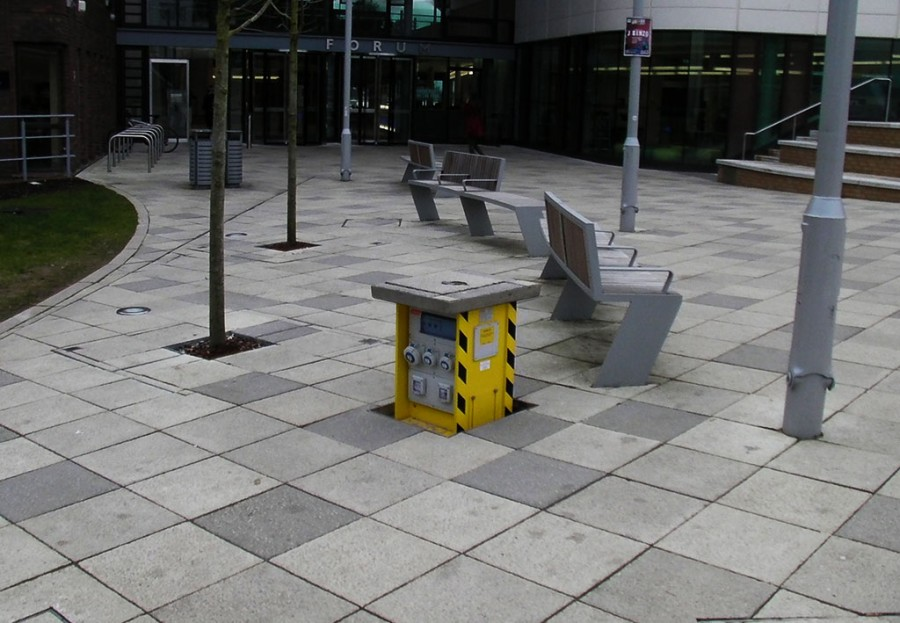 Exeter University benefits from retractable service units installed outside their Forum building
