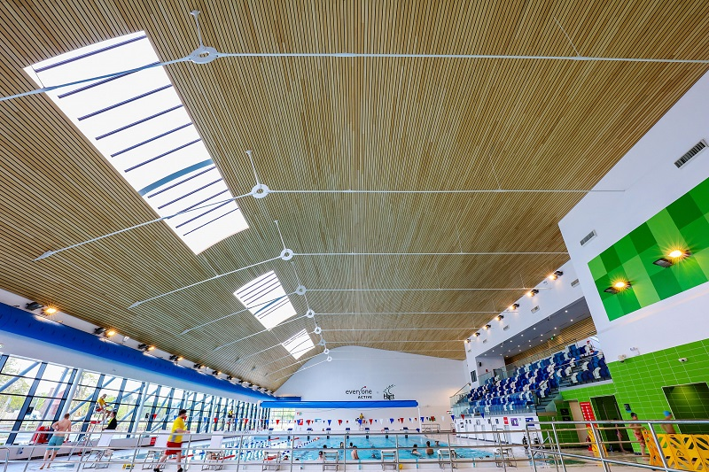 Flagship leisure centre gets Hunter Douglas treatment